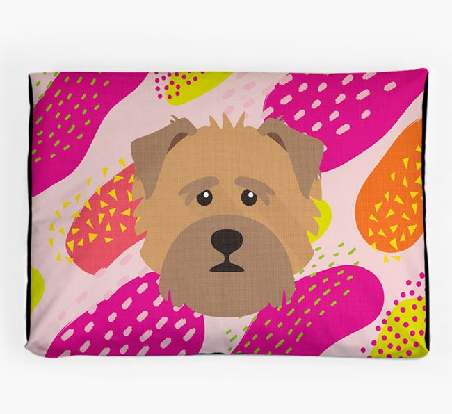 Personalised 'Abstract Design' Dog Bed for your Norfolk Terrier