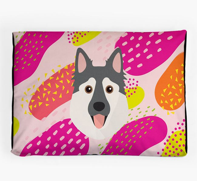 Personalised 'Abstract Design' Dog Bed for your Northern Inuit