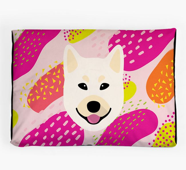 Personalised 'Abstract Design' Dog Bed for your Norwegian Buhund