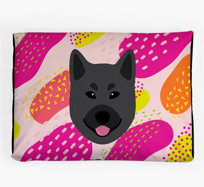 Personalised 'Abstract Design' Dog Bed for your Norwegian Elkhound