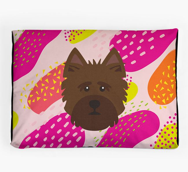 Personalised 'Abstract Design' Dog Bed for your Norwich Terrier