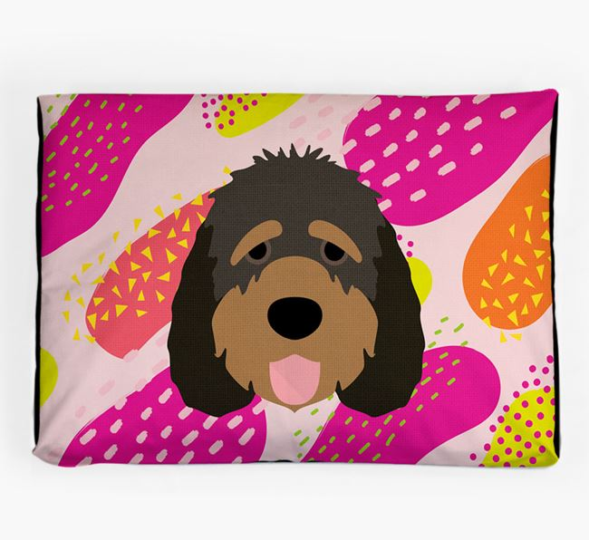 Personalised 'Abstract Design' Dog Bed for your Otterhound
