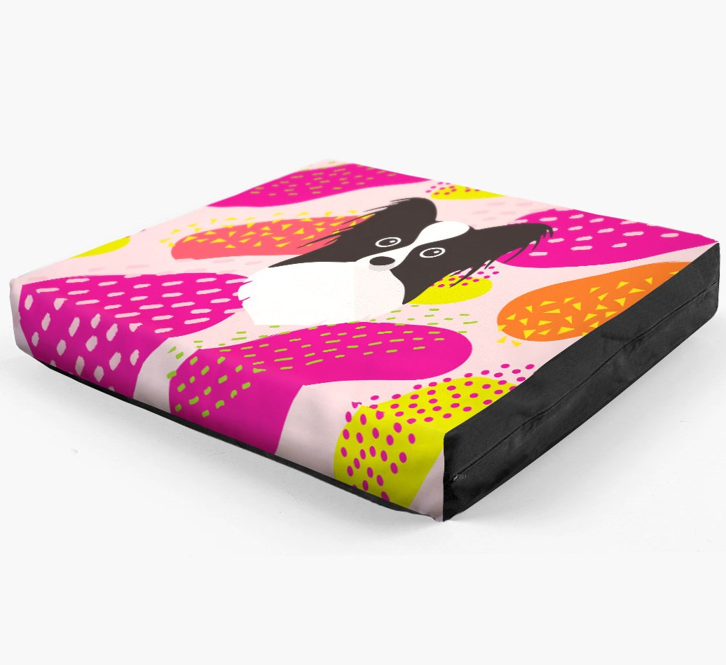 Personalised 'Abstract Design' Dog Bed for your Papillon