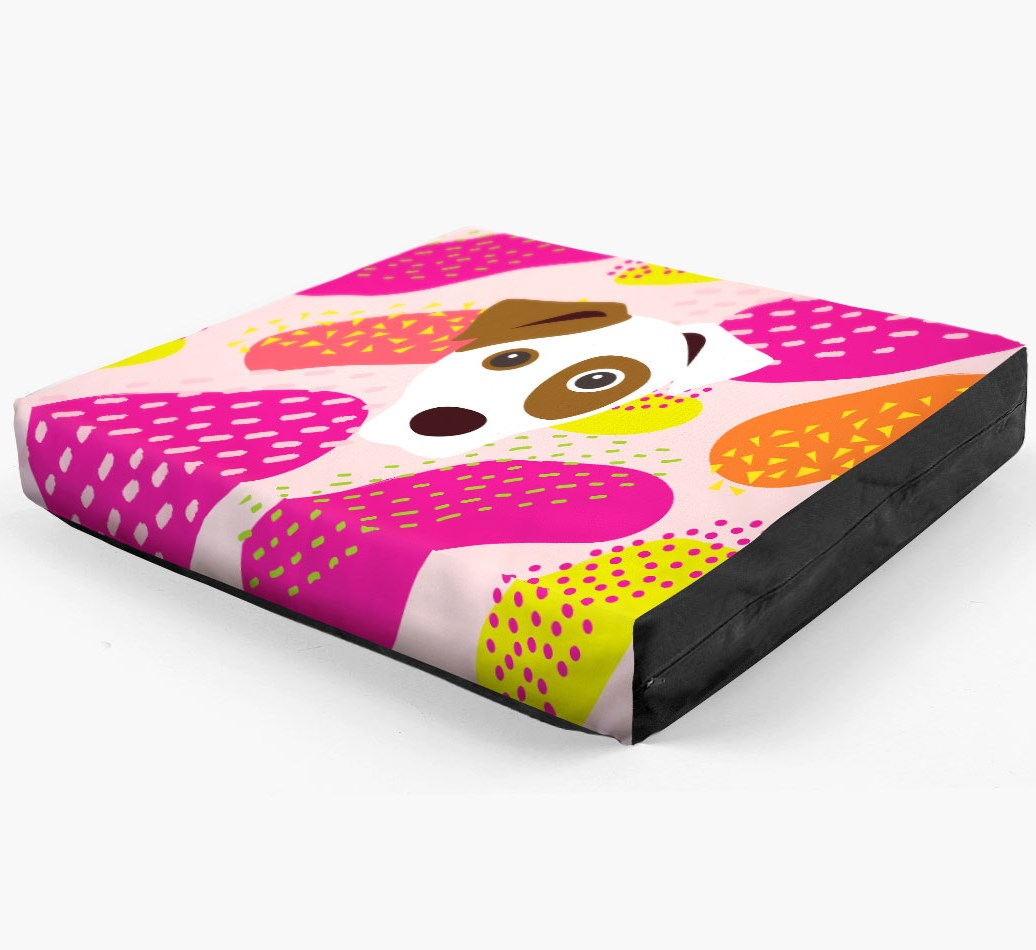 Personalised 'Abstract Design' Dog Bed for your Parson Russell Terrier