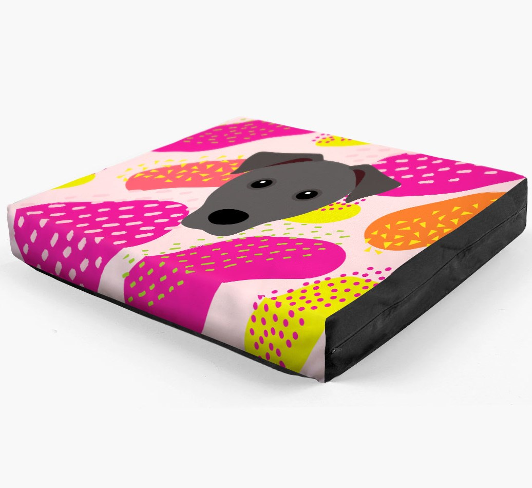 Personalised 'Abstract Design' Dog Bed for your Patterdale Terrier