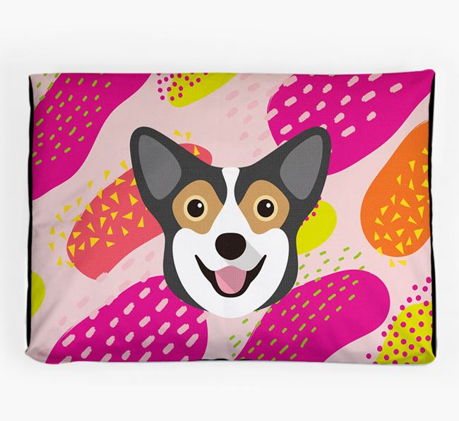 Personalised 'Abstract Design' Dog Bed for your Pembroke Welsh Corgi