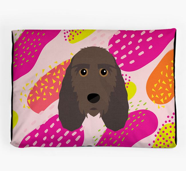 Personalised 'Abstract Design' Dog Bed for your Petit Basset Griffon Vendeen
