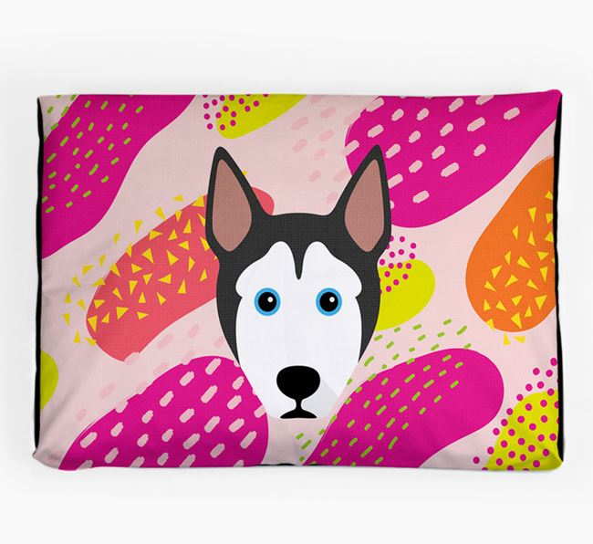 Personalised 'Abstract Design' Dog Bed for your Pitsky