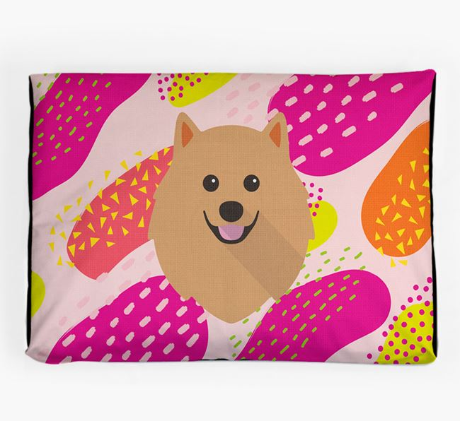 Personalised 'Abstract Design' Dog Bed for your Pomeranian