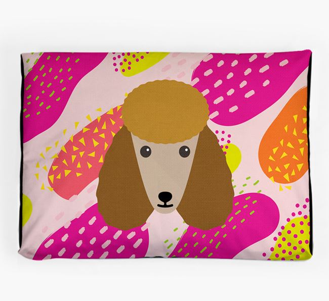 Personalised 'Abstract Design' Dog Bed for your Poodle