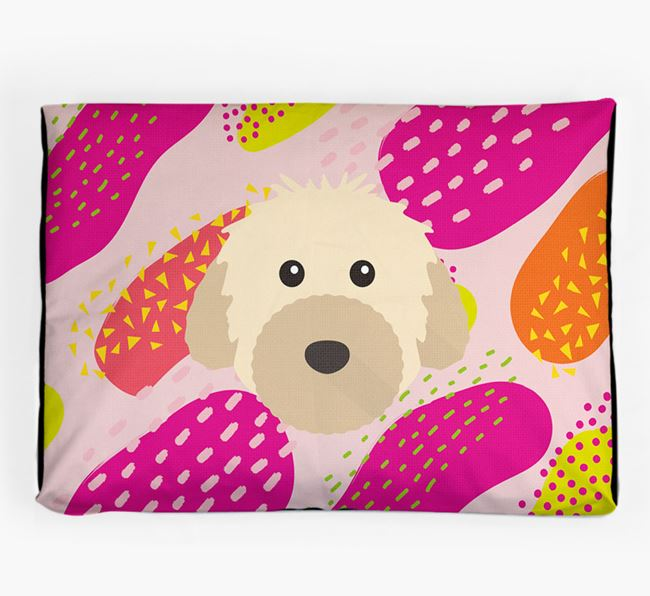 Personalised 'Abstract Design' Dog Bed for your Powderpuff Chinese Crested