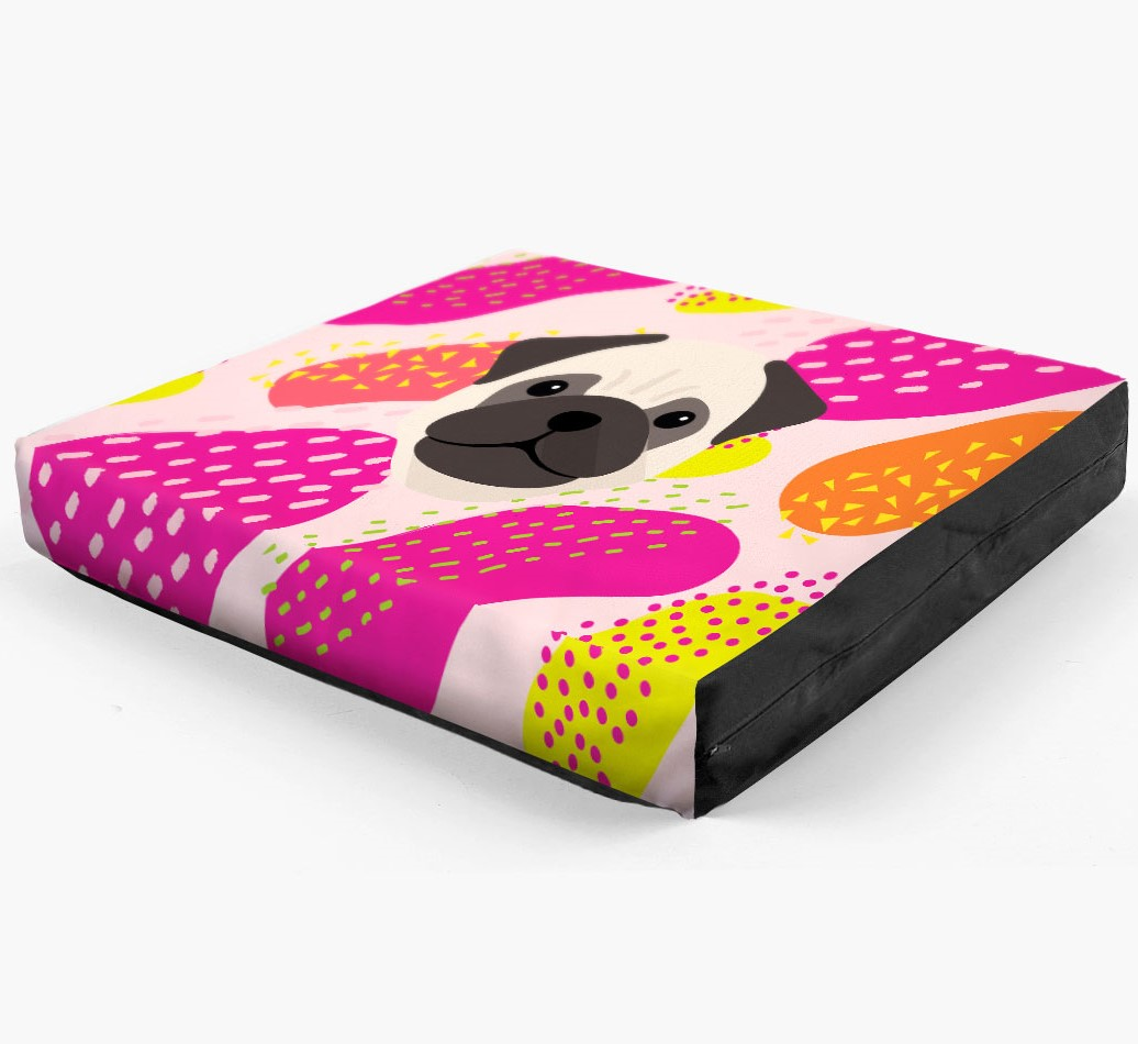 Personalised 'Abstract Design' Dog Bed for your Pug