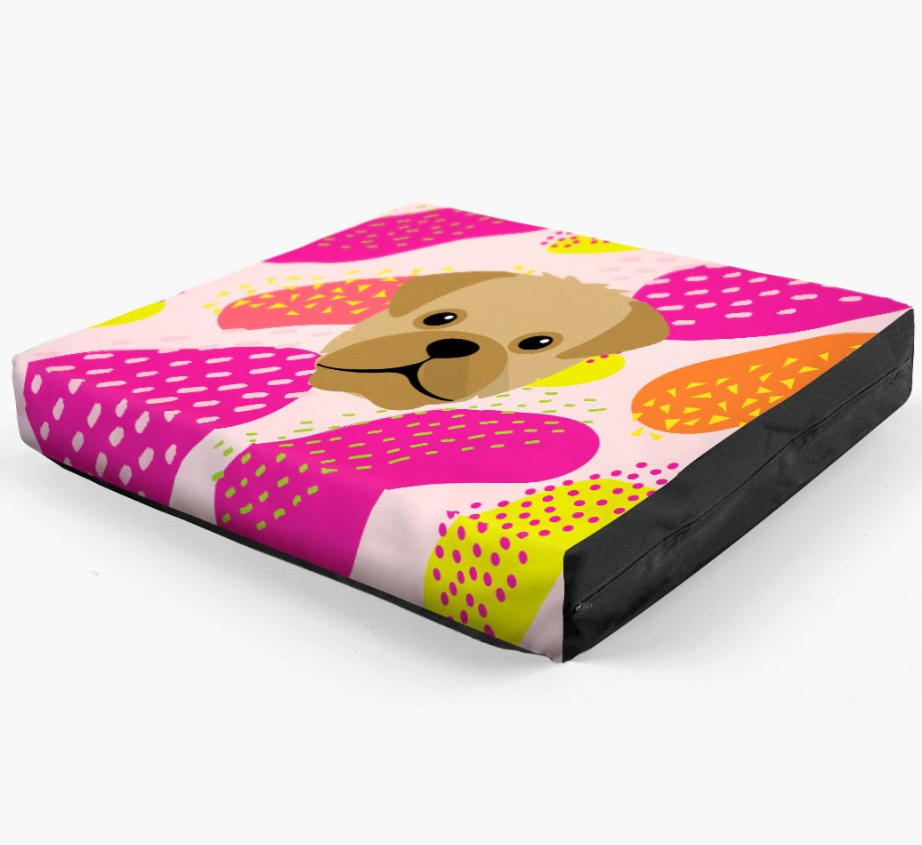 Personalised 'Abstract Design' Dog Bed for your Pugapoo