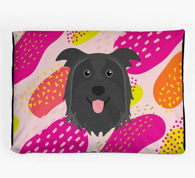 Personalised 'Abstract Design' Dog Bed for your Pyrenean Shepherd