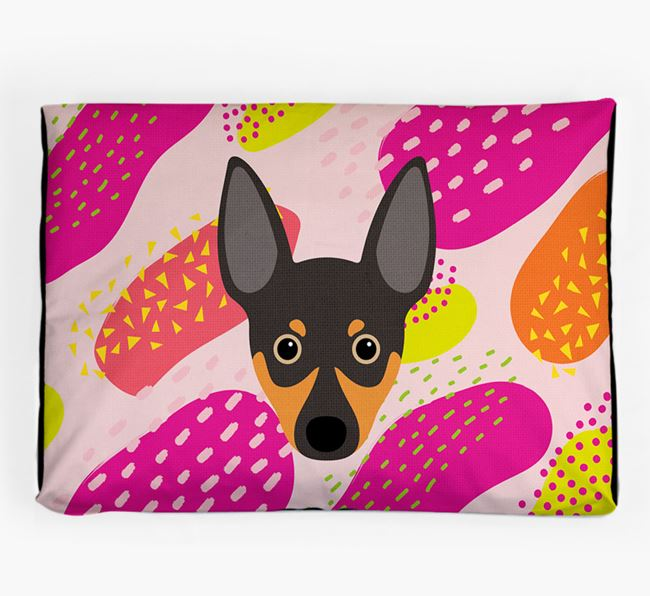 Personalised 'Abstract Design' Dog Bed for your Rat Terrier