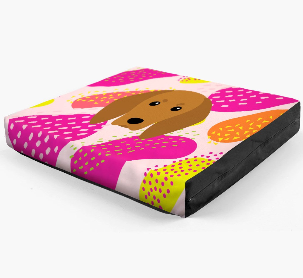Personalised 'Abstract Design' Dog Bed for your Redbone Coonhound