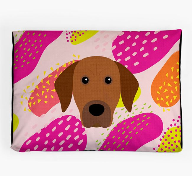 Personalised 'Abstract Design' Dog Bed for your Rhodesian Ridgeback