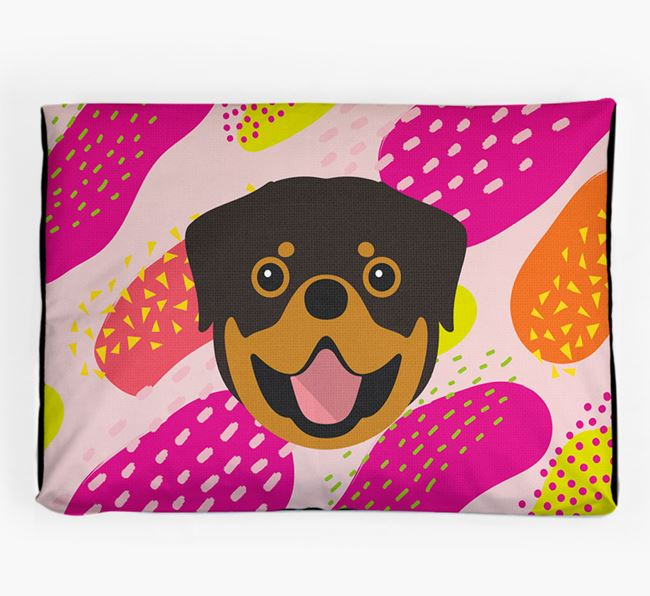 Personalised 'Abstract Design' Dog Bed for your Rottweiler