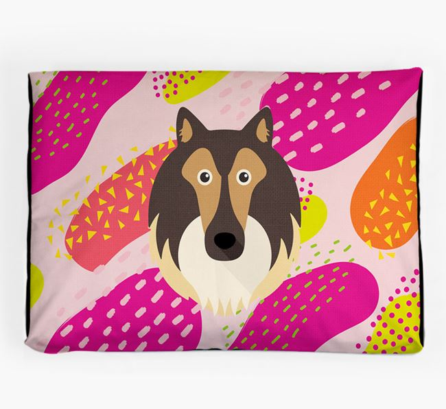 Personalised 'Abstract Design' Dog Bed for your Rough Collie