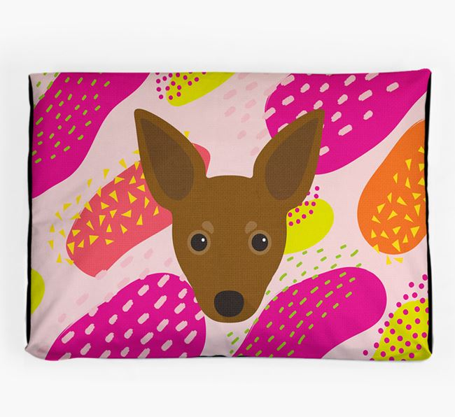 Personalised 'Abstract Design' Dog Bed for your Russian Toy
