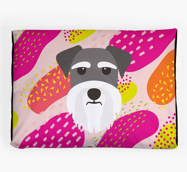 Personalised 'Abstract Design' Dog Bed for your Schnauzer
