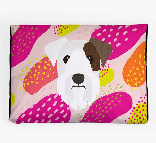 Personalised 'Abstract Design' Dog Bed for your Sealyham Terrier