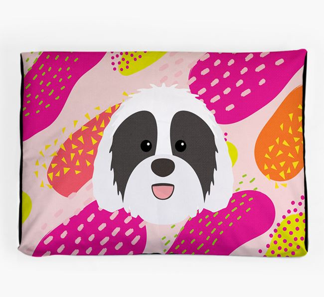 Personalised 'Abstract Design' Dog Bed for your Sheepadoodle