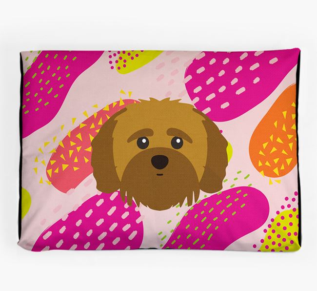 Personalised 'Abstract Design' Dog Bed for your Shih-poo