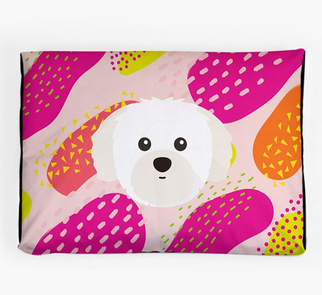 Personalised 'Abstract Design' Dog Bed for your Shih Tzu