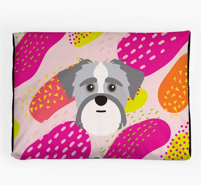 Personalised 'Abstract Design' Dog Bed for your Shorkie