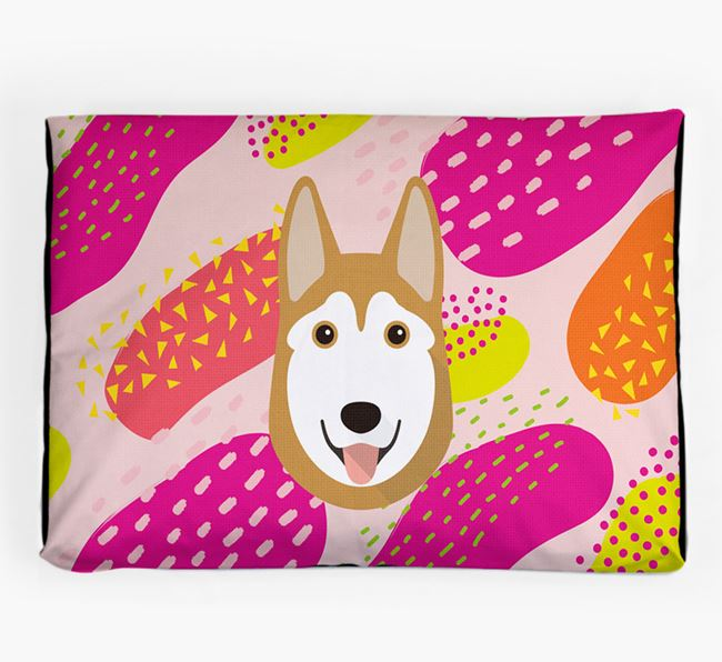Personalised 'Abstract Design' Dog Bed for your Siberian Husky