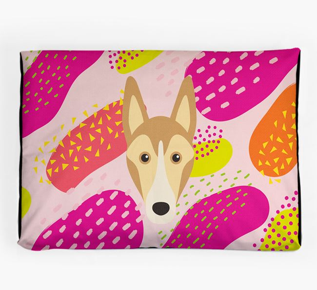 Personalised 'Abstract Design' Dog Bed for your Smooth Collie