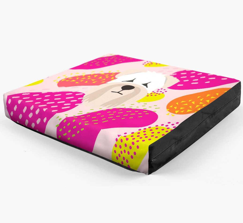 Personalised 'Abstract Design' Dog Bed for your Soft Coated Wheaten Terrier