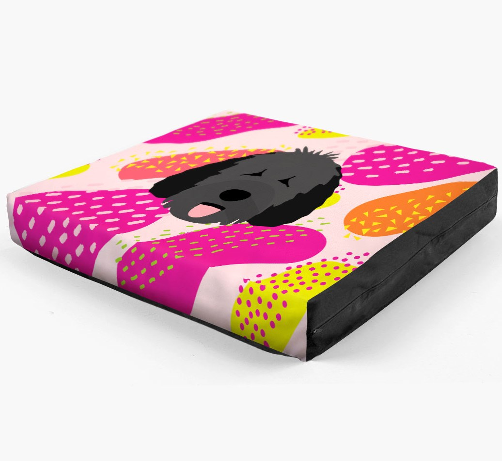 Personalised 'Abstract Design' Dog Bed for your Spanish Water Dog