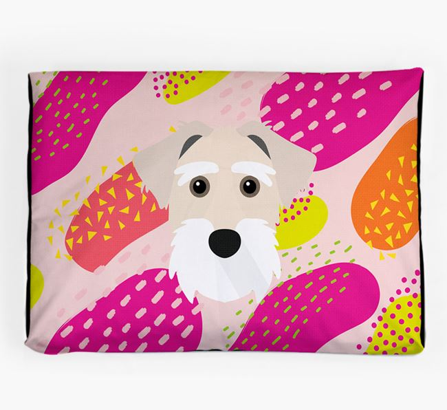 Personalised 'Abstract Design' Dog Bed for your Sporting Lucas Terrier