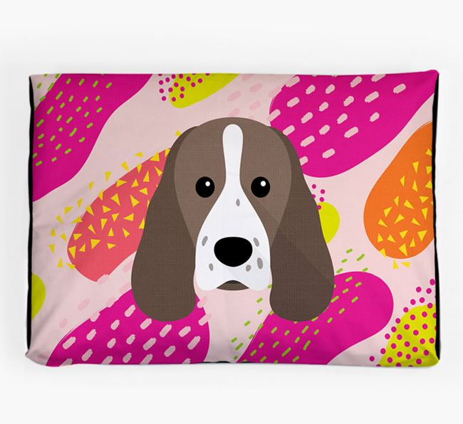 Personalised 'Abstract Design' Dog Bed for your Sprocker