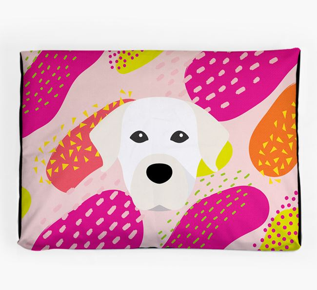 Personalised 'Abstract Design' Dog Bed for your Staffador