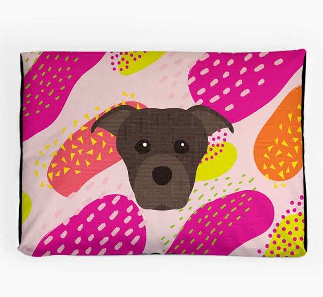 Personalised 'Abstract Design' Dog Bed for your Staffordshire Bull Terrier