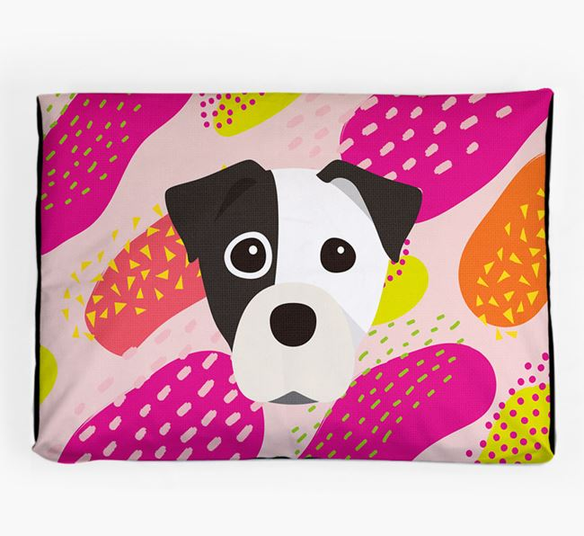 Personalised 'Abstract Design' Dog Bed for your Staffy Jack