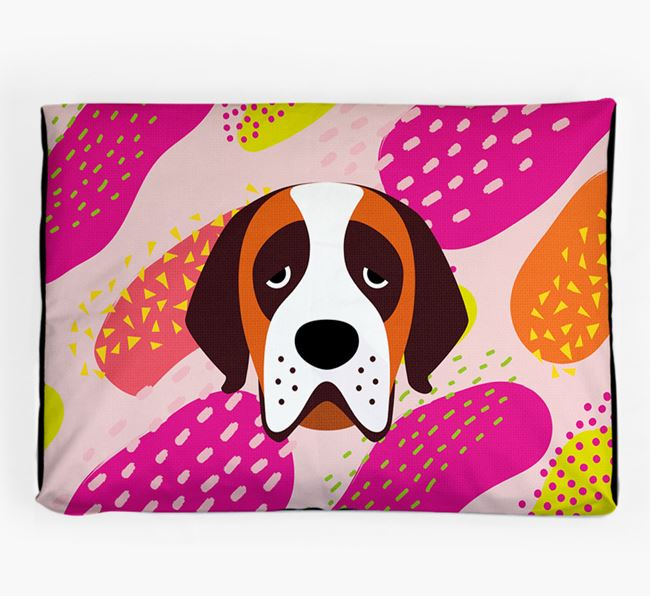 Personalised 'Abstract Design' Dog Bed for your St. Bernard