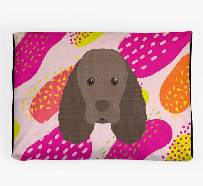 Personalised 'Abstract Design' Dog Bed for your Sussex Spaniel
