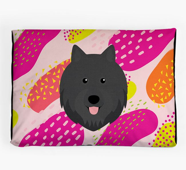 Personalised 'Abstract Design' Dog Bed for your Swedish Lapphund