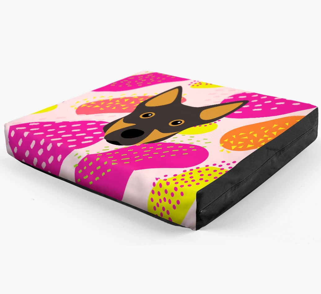 Personalised 'Abstract Design' Dog Bed for your Swedish Vallhund
