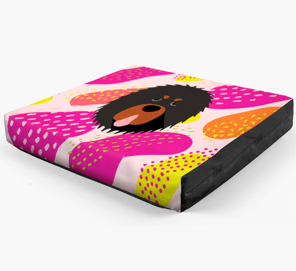 Personalised 'Abstract Design' Dog Bed for your Tibetan Mastiff