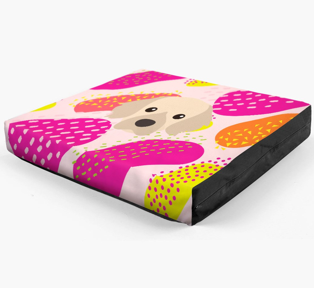 Personalised 'Abstract Design' Dog Bed for your Tibetan Spaniel