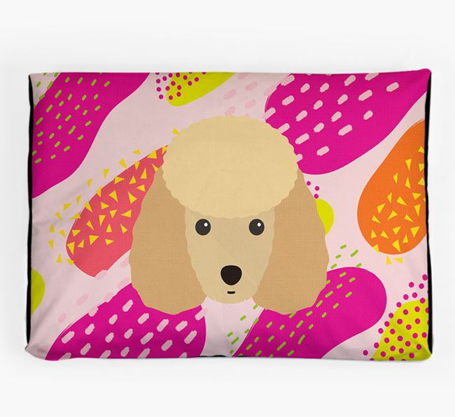 Personalised 'Abstract Design' Dog Bed for your Toy Poodle
