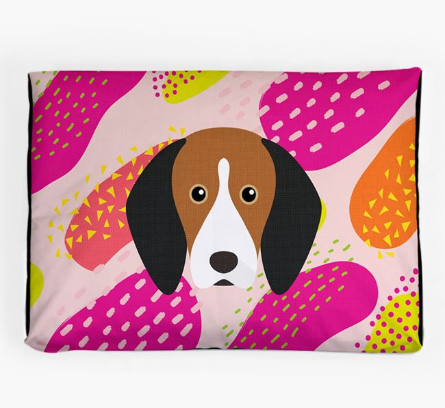 Personalised 'Abstract Design' Dog Bed for your Treeing Walker Coonhound