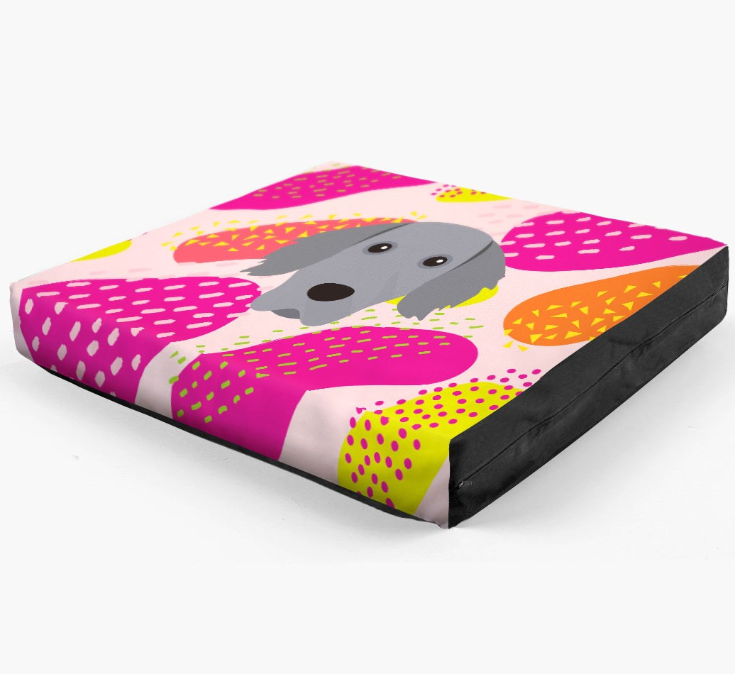 Personalised 'Abstract Design' Dog Bed for your Weimaraner