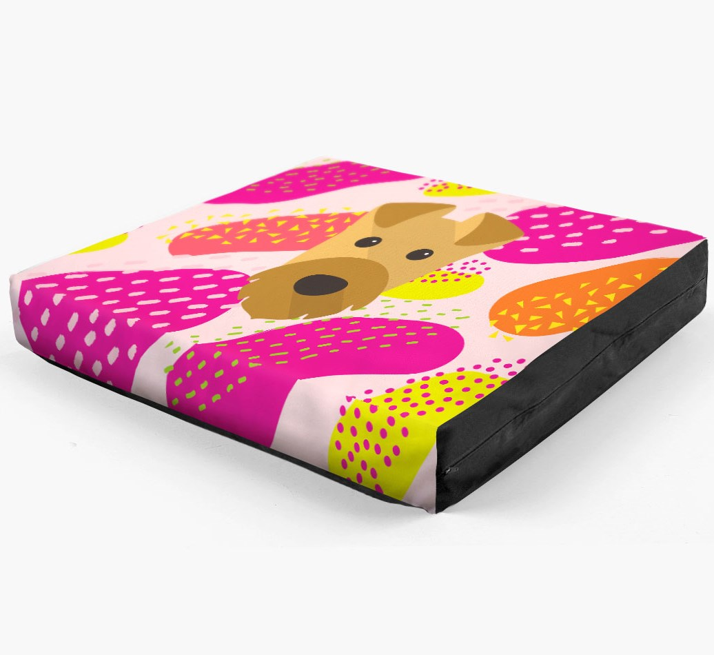 Personalised 'Abstract Design' Dog Bed for your Welsh Terrier