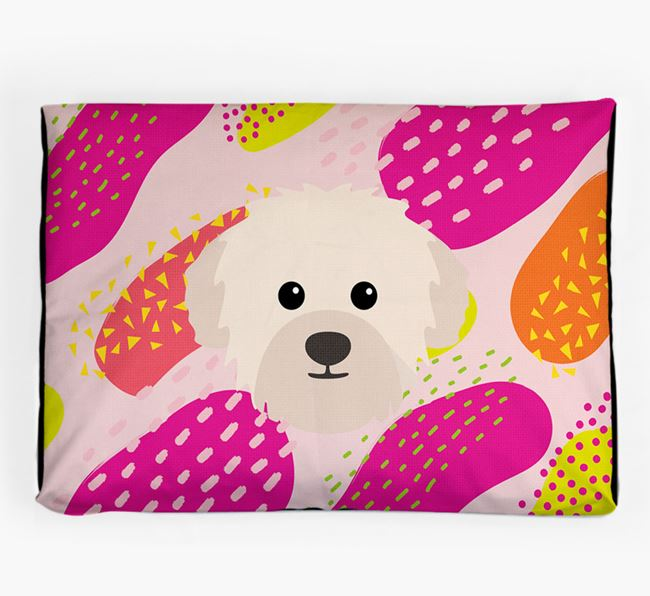 Personalised 'Abstract Design' Dog Bed for your Westiepoo
